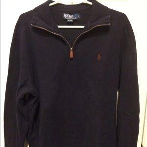 Polo Ralph Lauren pullover quarter-zip jacket EUC